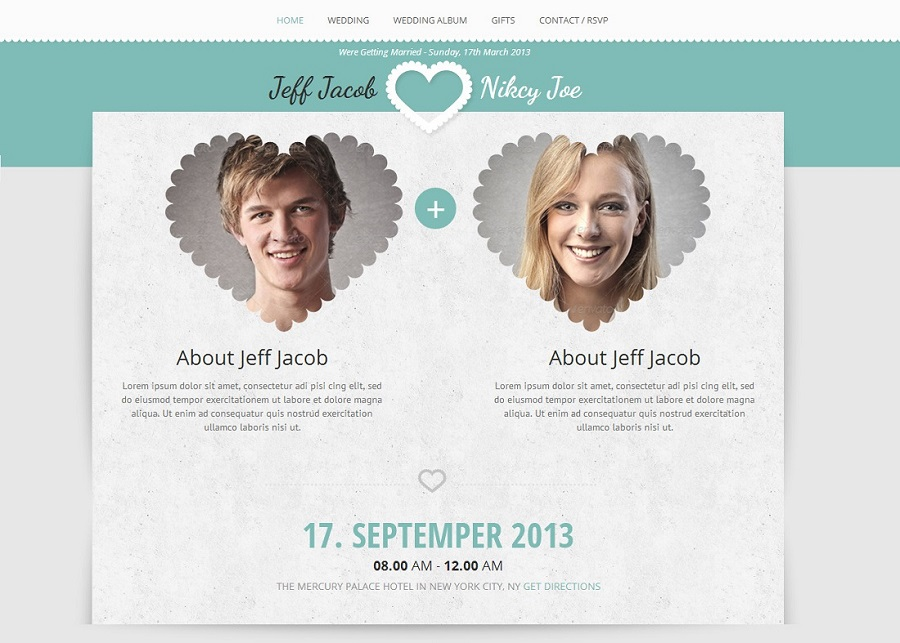 Beautiful Collection Of WordPress Wedding Themes To Create