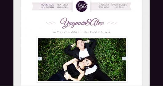wedding Day Bootstrap WordPress Theme Preview - WordPress Wedding Theme