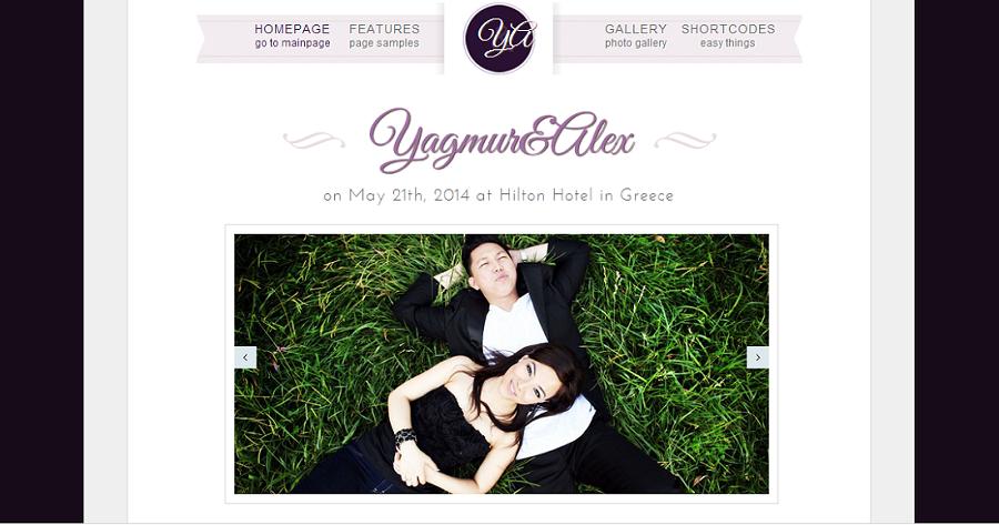 wedding website samples