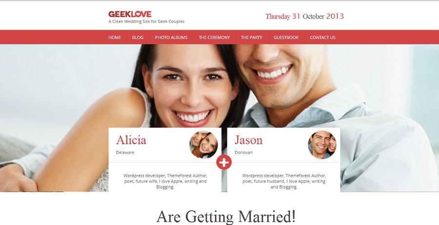 Wedding website themes junglespirit Choice Image
