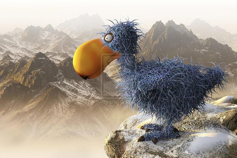 Dodo_bird_3d illustration by_maciejfrolow