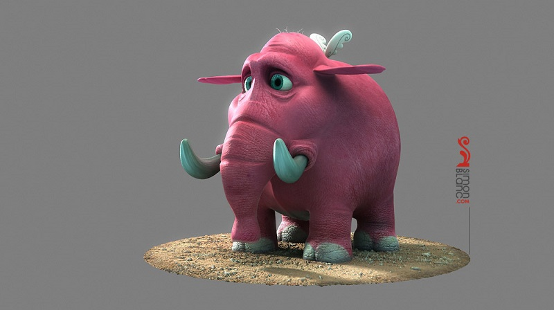 Elef_3D mammoth Illustration_by_simonblanc
