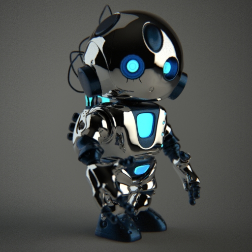 Robot_3D illustration by_ZeroPointPolygon