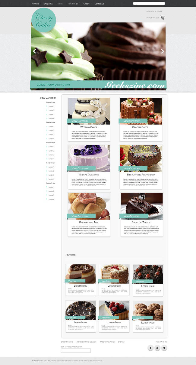 Cheesycakes eCommerce Web Template