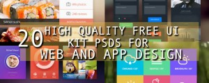 20 high quality free ui elements psds