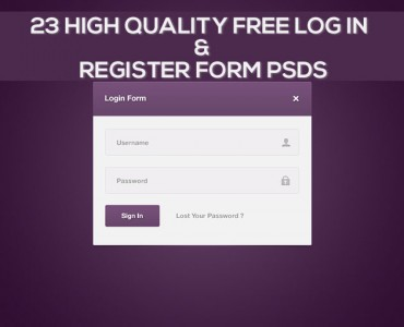 Featured Image 23 High Quality Free Log In and Register Form PSDs