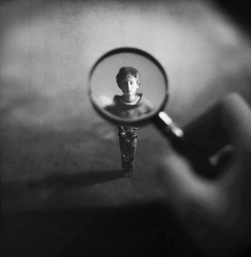 inspecting beautiful photo manipulation