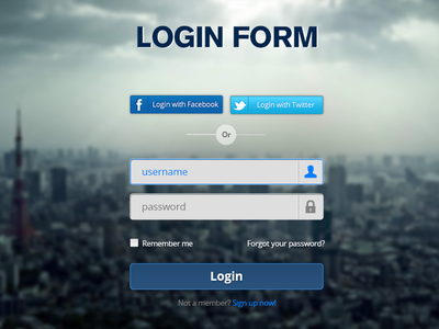 Login Form - PSD