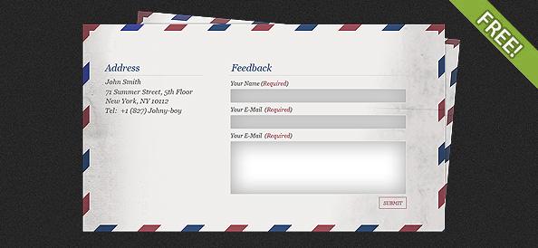 Mail Feedback Form 1 Free PSD