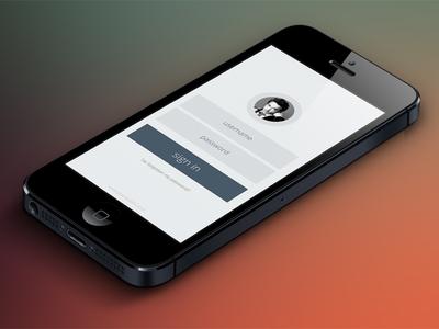 Minimal App Login Form PSD