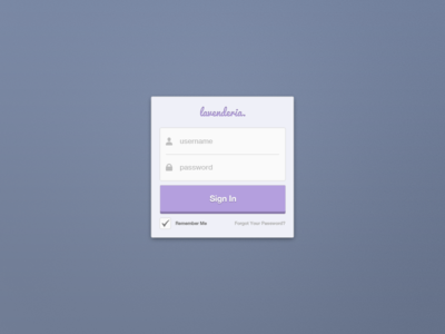 Sign In — Free PSD