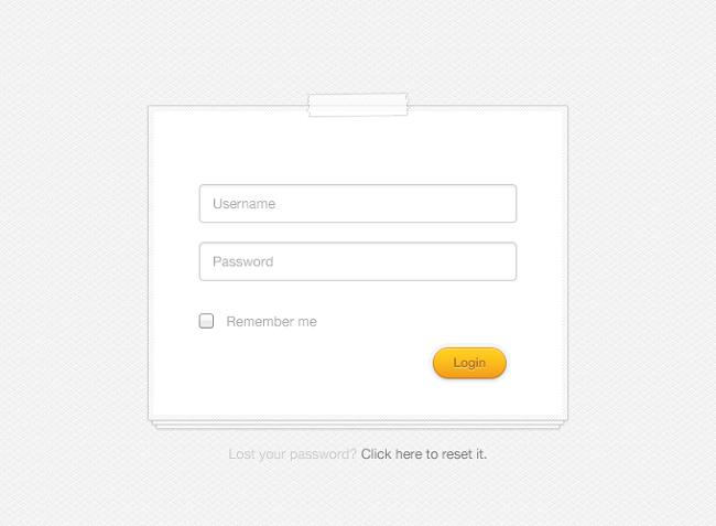 clean login form free