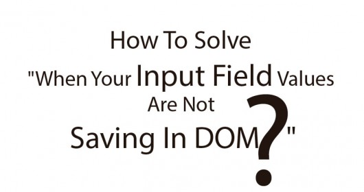 """How To Solve """"When Your Input Field Values Are Not Saving In DOM """""""