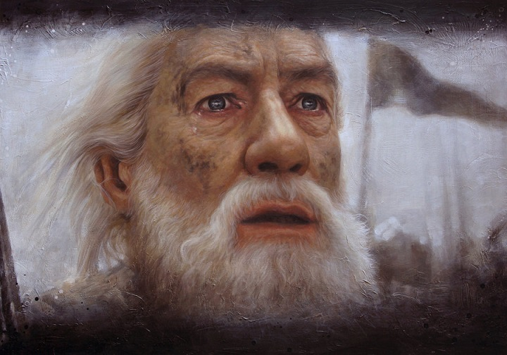 gandalf_Acrylics on board
