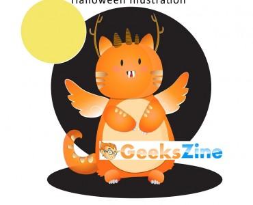 monster - geekszine - freebie - halloween illustration