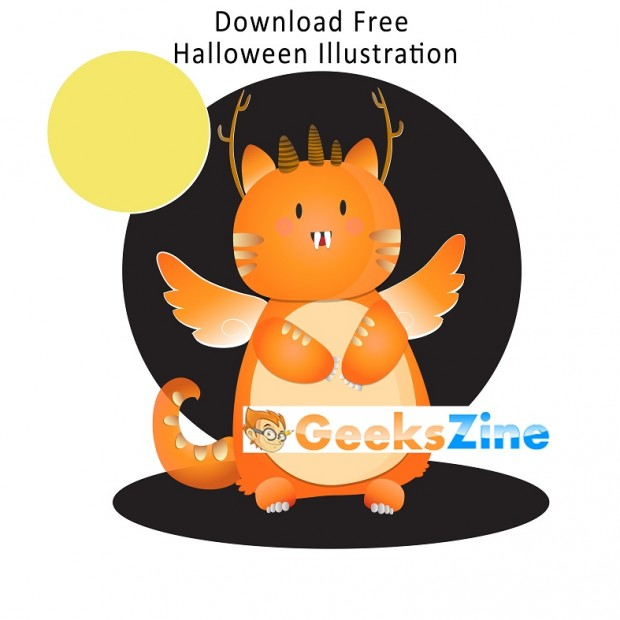 Download Free Halloween Monster Illustration – Free Halloween Art Design