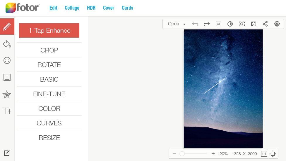 Best online photo editors- Fotor