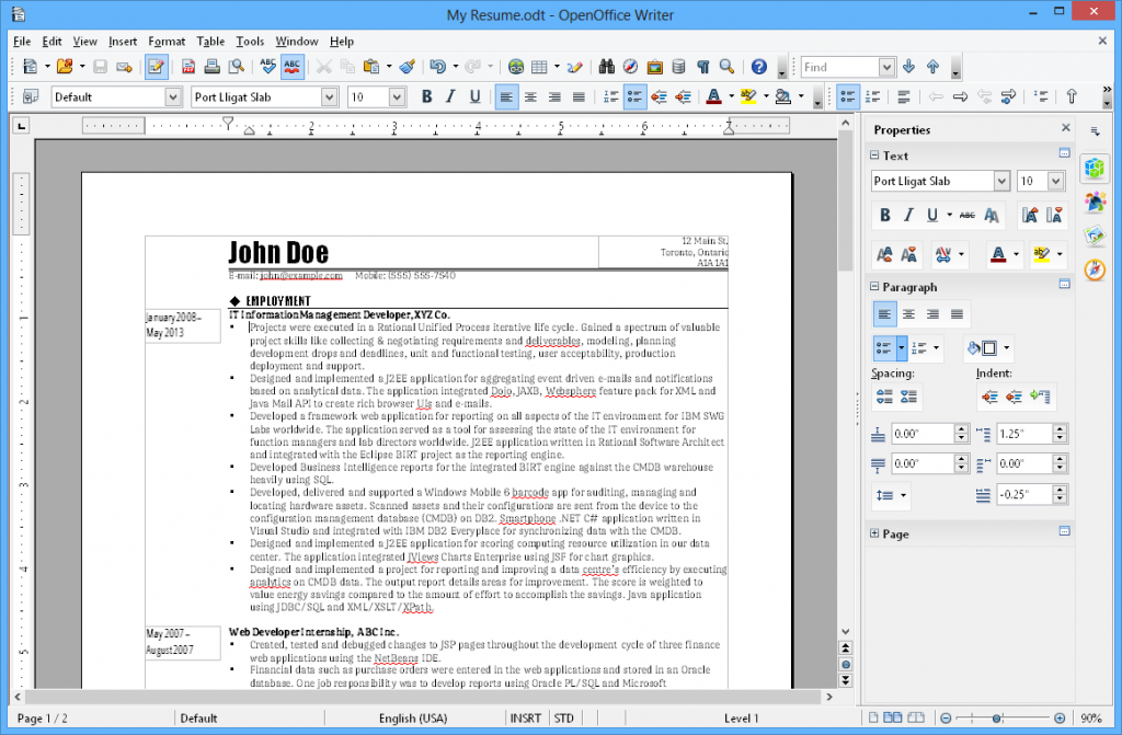 Word alternatives Openoffice