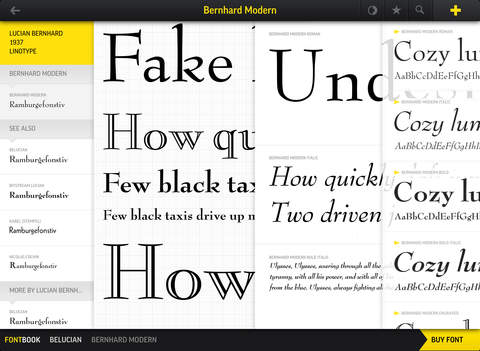 Apps For Graphic Designers To Use On The Go- Fontbook