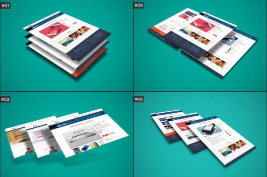 PSD Website Mockups