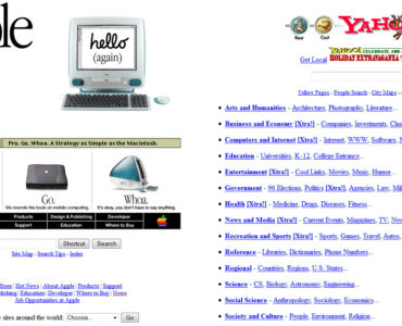 old web design trends