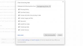 Delete internet history
