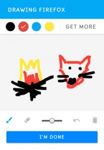 Facebook Doodle draw