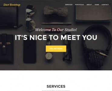 agency free one page scroll wp themes